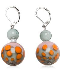 Antica Murrina - Papaya 1 Orange And Multicolor Murano Glass Earrings - Lyst