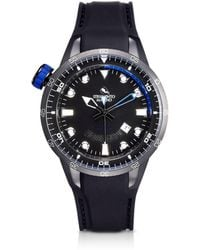 Strumento Marino - Warrior Stainless Steel And Black Silicon Men's Watch - Lyst