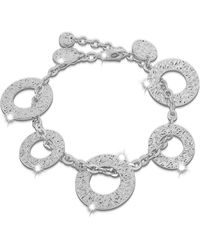 Rebecca - R-zero Rhodium Over Bronze Bracelet - Lyst