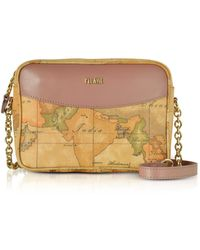 Alviero Martini 1A Classe - The Goldie Geo Printed Coated Canvas Messenger Bag - Lyst