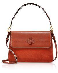 Tory Burch - Mcgraw Desert Spice Leather Shoulder Bag - Lyst