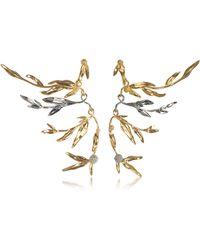 Aurelie Bidermann - 18k Gold-plated Brass Mimosa Articulated Earrings - Lyst