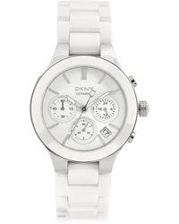 DKNY - Women's Ceramic Chronograph Watch - Lyst