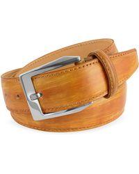 Pakerson - Men's Ocher Hand Painted Italian Leather Belt - Lyst