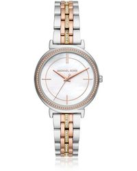 Michael Kors - Cinthia Two Tone Stainless Steel Watch - Lyst