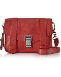 Proenza Schouler - Dark Ruby Ps1 Mini Lux Leather Crossbody - Lyst