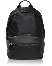 McQ - Mcq Gothic Repeat Black Eco-leather Classic Backpack - Lyst