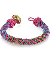 Aurelie Bidermann - Maya Peony Bracelet W/18k Gold-plated Bead - Lyst