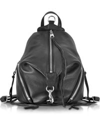 Rebecca Minkoff - Julian Black Leather Small Backpack - Lyst