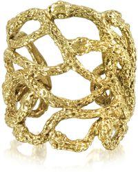 Bernard Delettrez Multi Snakes Flat Bronze Ring