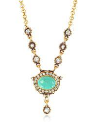 Alcozer & J - Blue Sky Brass Necklace - Lyst