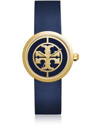 Tory Burch - Tbw4021 The Reva Blue Leather Women's Watch - Lyst
