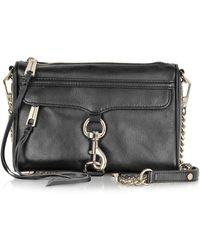 Rebecca Minkoff - Black Leather Mini Mac Crossbody Bag - Lyst