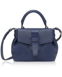 Lancel - Charlie Nano Petrol Blue Full-grain Satchel Bag - Lyst