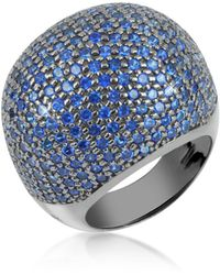 Azhar | Blue Cubic Zirconia Fashion Ring | Lyst