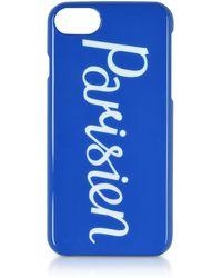 Maison Kitsuné - Housse de Protection pour iPhone 7/8 en Plastique Résistant Bleu Royal - Lyst