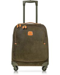Bric's - Life Olive Green Micro Suede X-small Trolley - Lyst