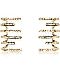 FEDERICA TOSI - New Hook Earrings W/strass - Lyst
