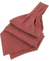 FORZIERI - Daisy Print Pure Silk Ascot - Lyst