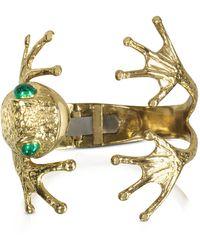 Bernard Delettrez - Frog Bronze Cuff Bracelet - Lyst