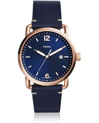 Fossil - Fs5274 The Commuter 3h Date Men's Watch - Lyst