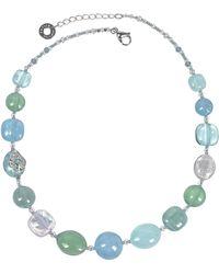 Antica Murrina - Florinda Collar con Abaloris Azules y Verdes de Cristal de Murano - Lyst