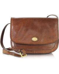 The Bridge - Story Donna Marrone Leather Crossbody Bag - Lyst