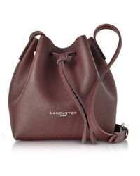 Lancaster Paris - Pur & Element Saffiano Leather Mini Bucket Bag - Lyst