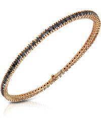 FORZIERI - Black Diamond Eternity 18k Gold Tennis Bracelet - Lyst