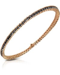 FORZIERI - Black Diamond Eternity 18k Gold Tennis Bracelet - Lyst