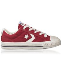 Converse - Red Star Player Distressed Ox Canvas Men's Trainers - Lyst