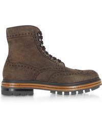 Santoni - Brown Deer Suede Men's Boots - Lyst