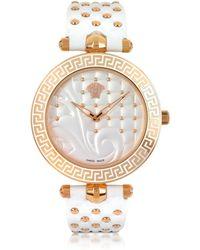 Versace - Vanitas White Women's Watch - Lyst