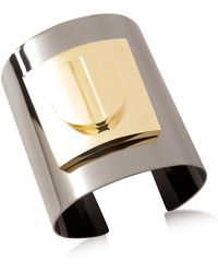 Pluma - Two Tone Large Viti Brass Cuff In Fumoso - Lyst