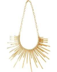 Pluma - Sunburst Golden Brass Necklace - Lyst
