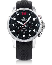 Strumento Marino - Summertime Stainless Steel And Black Silicone Men's Chronograph Watch - Lyst