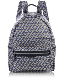 Lancaster Paris - Ikon Blue Coated Canvas Men's Backpack - Lyst