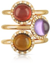 Mia & Beverly - Gemstone And Diamond 18k Rose Gold Ring - Lyst