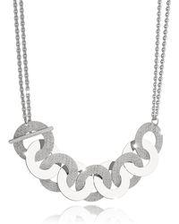Rebecca - R-zero Rhodium Over Bronze And Steel Maxi Chain Necklace - Lyst