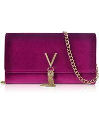 Valentino By Mario Valentino - Velvet Marilyn Shoulder Bag - Lyst