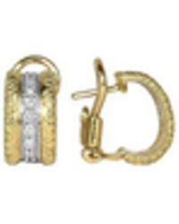 Torrini - Mini-denise - 18k Yellow Gold Diamond Earrings - Lyst