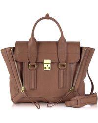 3.1 Phillip Lim - Taupe Leather Pashli Medium Satchel Bag - Lyst