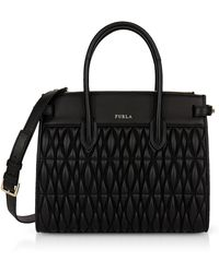 Furla - Quilted Nappa Leather Pin Cometa S E/w Tote Bag - Lyst