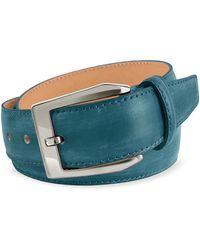 Pakerson - Men's Petrol Blue Hand Painted Italian Leather Belt - Lyst