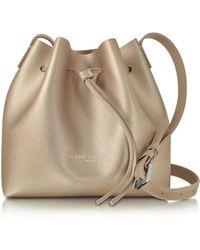 8663971c4e Lancaster Paris - Pur   Element Champagne Saffiano Leather Mini Bucket Bag  - Lyst
