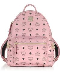 MCM | Soft Pink Small Stark Backpack | Lyst