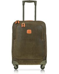 Bric's - Life Olive Green Micro Suede Small Trolley - Lyst