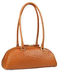 Fontanelli - Tobacco Stamped Italian Leather Bag - Lyst