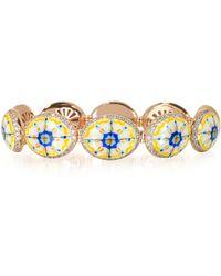 Azhar - Capri Silver Zircon And Enamel Bracelet - Lyst