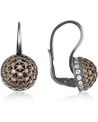 Azhar | Cubic Zirconia And Sterling Silver Round Earrings | Lyst